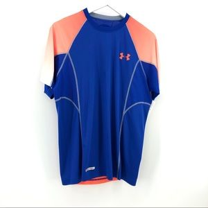 Under Armour Heat Gear Shirt M Fitted Top Blue